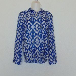 Chicos Long Sleeve Button Down Blouse (1)